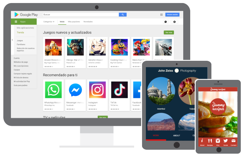 App Maker FREE  Try the best app creator  iPhone/iPad y Android